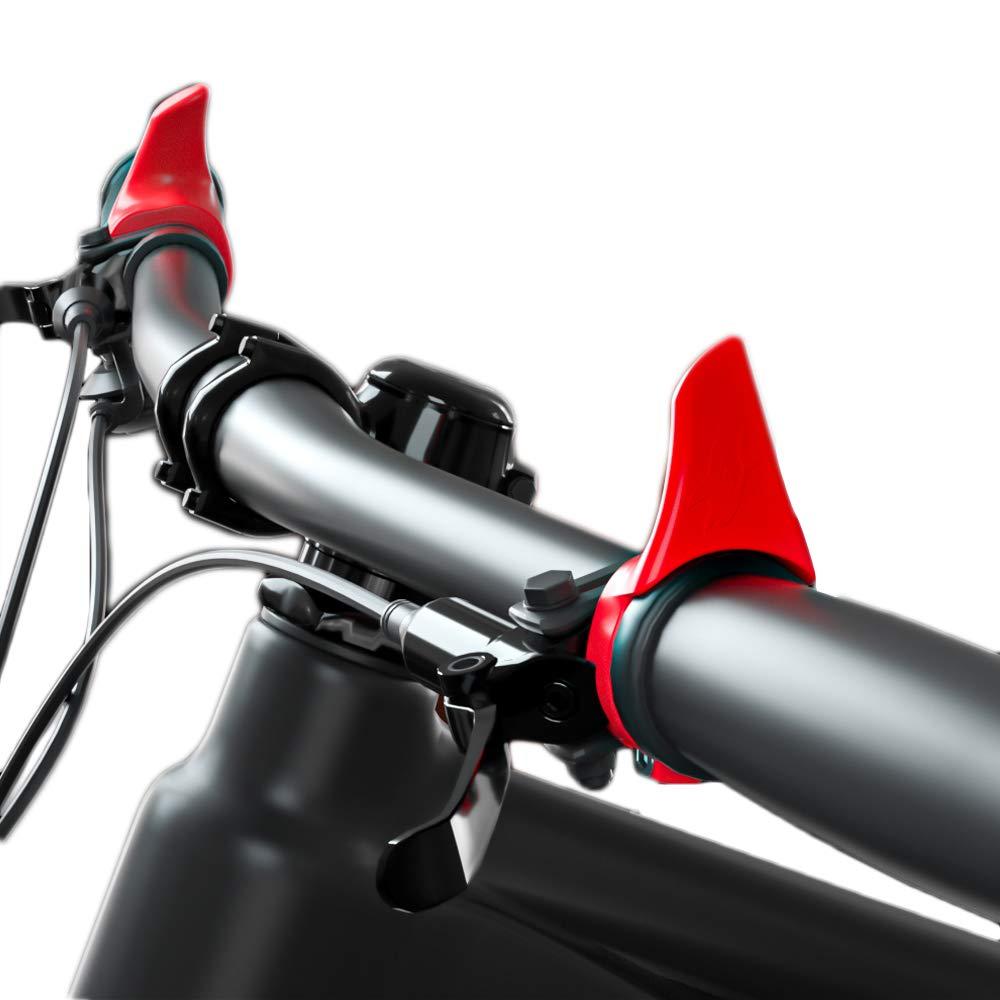 MOTSUV Light Bicycle Handlebars with Lock Ring Bike Deputy Handle Anti-Slip Bike Secondary Rest Handlebar Bicycle Vice Hand Part
