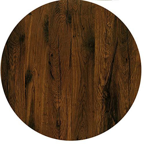 Werzalit / hochwertige Tischplatte/Eiche antik/runde Form 70 cm/Bistrotisch/Bistrotische/Gartentisch/Gastronomie