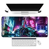 953699fr - Cyberpunk Tapis de Souris |Cyberpunk mouse pad MANGA pour gamer XXL |Tapis de...