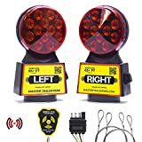 Master Tailgaters Wireless Trailer Tow Lights - Magnetic Mount - 48 Feet Range - 4 Pin Blade Connection