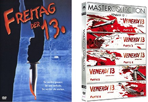 Freitag der 13te Teil 1-6 DVD Set, 13. Friday the 13th I & Box + deutsch und ungeschnitten