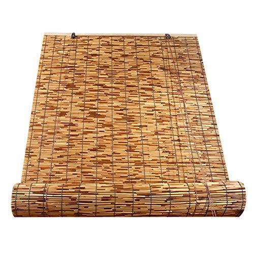 XZP Ciegos de bambú Cortinas Romanas Luz filtrado de la decoración del hogar Oclusión Cortina de…