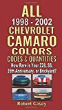 All 1998-2002 Chevrolet Camaro Colors, Codes & Quantities: How Rare is Your Z28, SS, 35th Anniversary, or Brickyard?