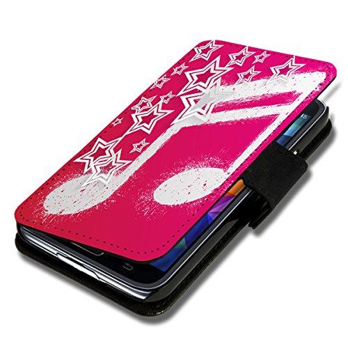 wicostar Book Style Flip Handy Tasche Case Schutz Hülle Schale Motiv Etui für LG L Fino - Flip 1X16 Design1