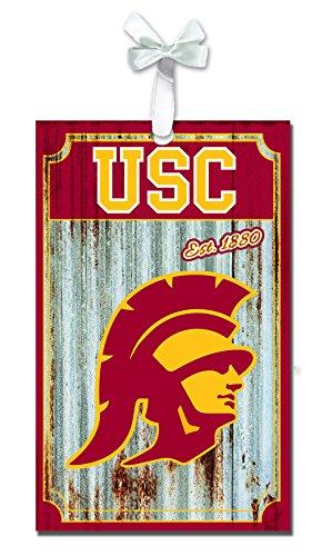 Team Sports America USC Trojans Corrugated Metal Ornament