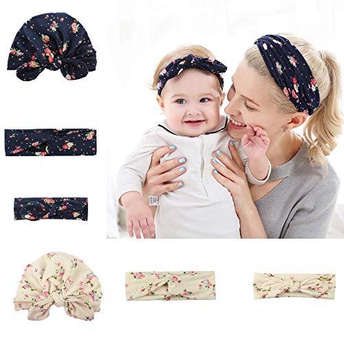 Stirnbänder für Baby und Mutter, Mama und Tochter Haarbänder& Hut-Set, Hüte und Haarwickel für Neugeborene, Säuglinge und Kleinkinder, Stirnband baby mädchen, Neugeborenen geschenk, Baby foto requisit