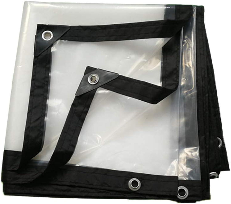 ZHAOXIANWEI Transparent Waterproof Tarpaulin Plastic Insulation Cloth Heavy Tarpaulin Wild Dining Cushion (Size   2x3m)