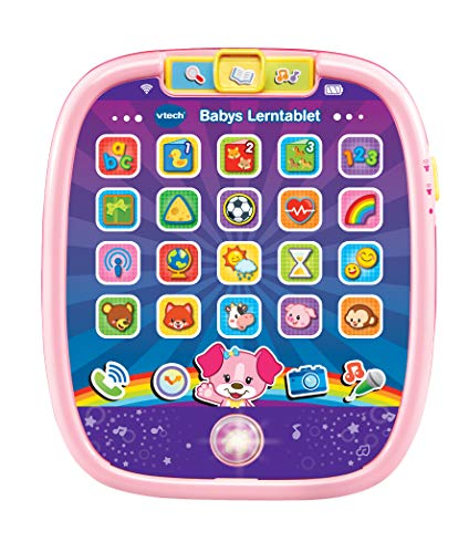 VTech 80-602954 Baby Learning Tablet Pink Baby Tablet Multi-Coloured