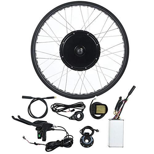 Xinwoer Elektrofahrrad LCD-Display Motor Kit 26 Zoll Rad E-Bike-Konvertierung 72V 3000W, kann Geschwindigkeit, Laufleistung und Gangdaten verfolgen(Rear Drive Rotating flywheel)