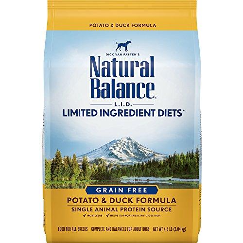 Natural Balance L.I.D. Limited Ingredient Diets Dry Dog Food, Potato & Duck Formula, 4.5 Pounds, Grain Free