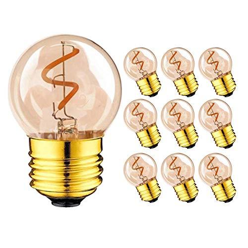 JFFFFWI Bombilla de luz de Globo LED Vintage Regulable, Estilo Edison de...