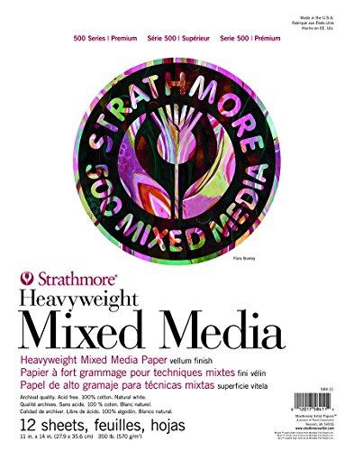 Strathmore (584-11 500 Series Heavyweight Mixed Media, 11'x14', 12 Sheets