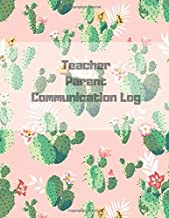 Teacher Parent Communication Log: Contact Log, Parent Communication Log Book For Teachers, 3 Contact Records Per Page (330 Records In Notebook) 8.5 x 11, 110 pages