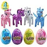 FiGoal 4 Pack de diferentes huevos para incubar juguetes de unicornio