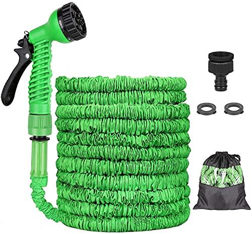 Tubo da Giardino, 15m 50 FT Flessibile Tubo da Giardino, Tubo Estensibile Irrigazione con 8 Funzioni di Spruzzo per Irrigazione del Giardino e Autolavaggio