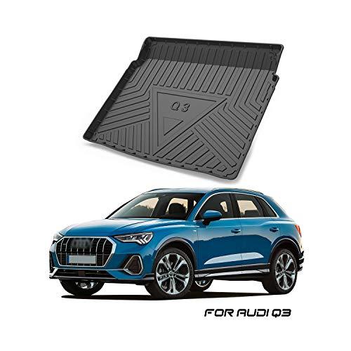 YEE PIN Kofferraummatte für Audi Q3 F3 SUV 2 (Lower Layer) 2019, Seitenschutz TPO Material Laderaumschale Schutzmatte für Sicheren Transport von Gepäck, Rutschfester