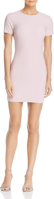Likely Womens Manhattan Short Sleeves Mini Mini Dress Pink 6