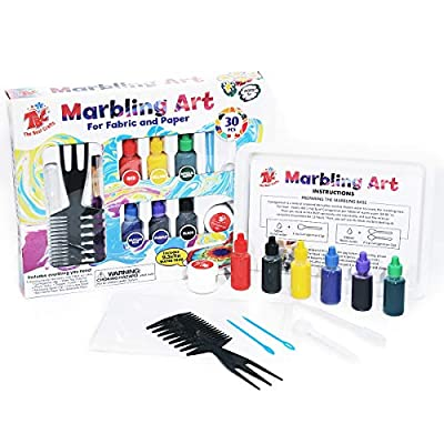 Amazon - Save 55%: TBC The Best Crafts Marbling Art Paint Kit, 6 Bottles Marbling Inks(19…