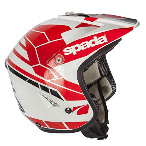 Spada Edge Chaser Trials Helmet XL White Red
