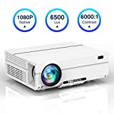 Projector Native 1080P, TOPVISION Video Projector with Carrying Case, 6500L Full HD Movie Projector,...