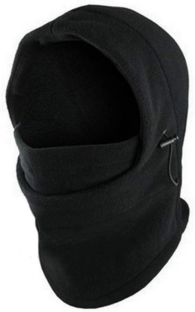 DAIDAIGZ 6 In1 Neck Men's Outdoor Fleece Warmer Hat Winter Hat Fleece Hood Ski Cover Warm Helmet Warm Hat for Men Fall Black