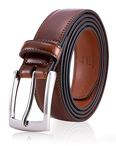 Brown Belt for Men, Fashion & Classic Design for Dress and Causal (Size 34 (Waist 32), Burnt Umber)
