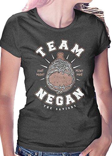 LeRage Shirts Team Negan–T-Shirt The Saviors Zombies Walking Dead da Donna