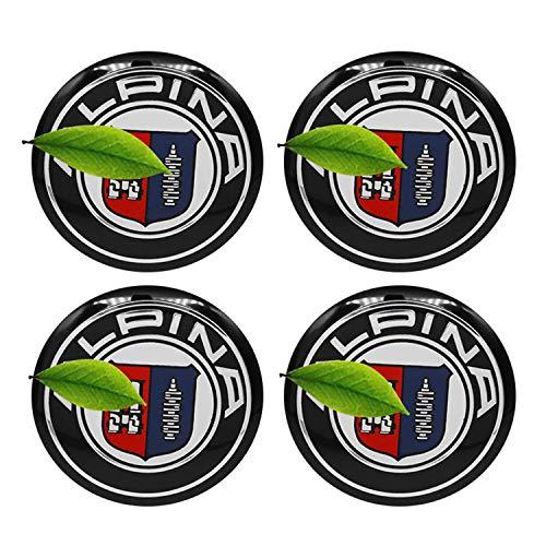 NCUIXZH 4pcs 56 / 60MM Centro de Rueda de Coche Hup Caps Insignia Emblema Pegatinas Cubiertas a Prueba de Polvo, para BMW Alpina E46 E39 E90 E60 E36