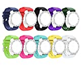 Replacement 10 Color 3D Twill Silicone Bands for Samsung Galaxy Watch 3 45mm/Gear S3 Classic/Galaxy Watch (46mm) SM-R800/ Moto 360 2 46mm Smartwatch Soft Sport Bracelet Strap for Samsung Gear S3 Watch