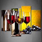 wine and grapes canvas art - Grape Wine with Cup Wall Art Painting The Picture Print On Canvas Food Pictures for Home Decor Decoration Gift
