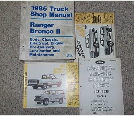 1985 ford ranger bronco ii truck service shop repair manual set oem factory  85 (factory