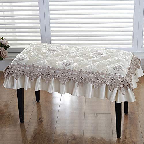 UYASDASFAFGS eenvoudige piano kruk afdekking kant zitkussen met dassen non-slip zitkussen voor binnen en buiten rechthoekige bank afdekking pad gewatteerde kruk stoelkussen