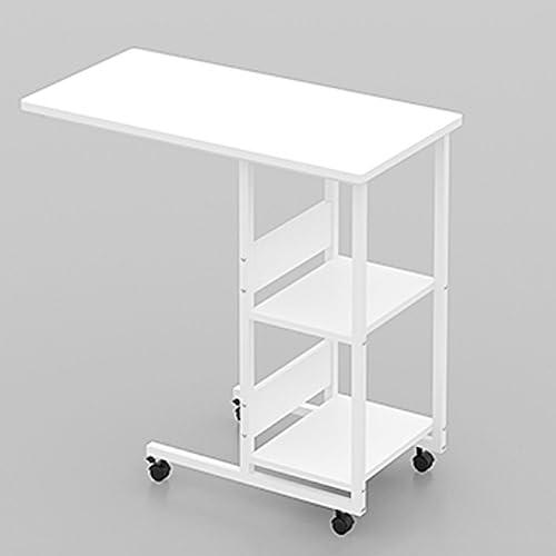 Tableau LHA Blanc Paresseux Ordinateur Portable de Chevet Ordinateur Portable Bureau 80x40x76cm (Taille   Blanc)
