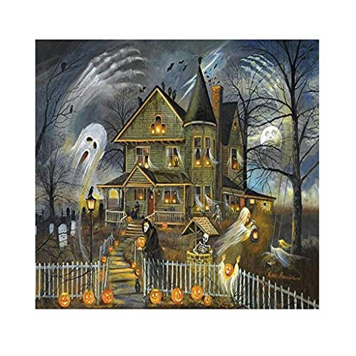 Puzzles For Adults 1000 Pieces, Halloween, Pumpkin Lantern Horror Patterns, Flat 3d Puzzle Games, Diy Toys