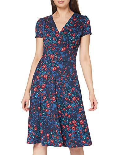 Joe Browns Damen Winter Meadow Dress Lässiges Kleid, Blau/Mehrfarbig, 36