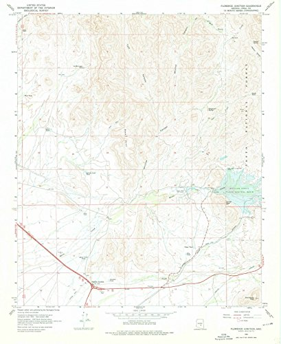 Arizona Maps - 1966 Florence Junction, AZ - USGS Historical Topographic Wall Art - 35in x 44in