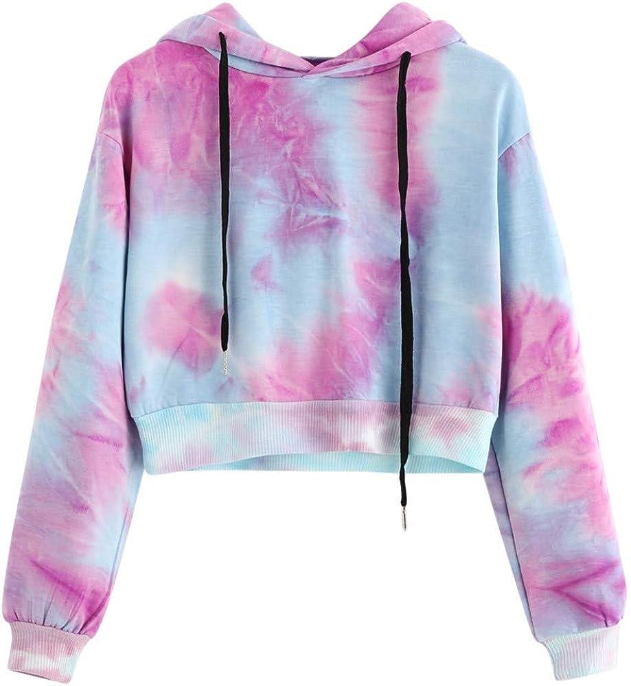 Girls' Hoodie, Misaky 2019 Tie Dye Print Short Long Sleeve Hoodie Pullover Blouse Sweatshirt