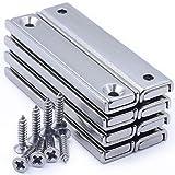 Rechteckig Starke Neodym Magnete, 8 Stück Neodym Magnete 60x13.5x5mm,Super Stark Kräftig Neodym Viereckig Ziegel Magnete mit Befestigungsschrauben