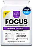Brainzyme® Focus Elite: Stress-Relief, Positive Mood, Memory & Energy. 3-in-1 Brain Supplement +