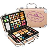 Vokai Makeup Kit Gift Set - Italy Travel Case 41 Eye Shadows 4 Blushes 5 Bronzers 7 Body Glitters 1 Lip Liner Pencil 1 Eye Liner Pencil 2 Lip Gloss Wands 1 Lipstick 5 Concealers 1 Brow Wax 1 Mirror