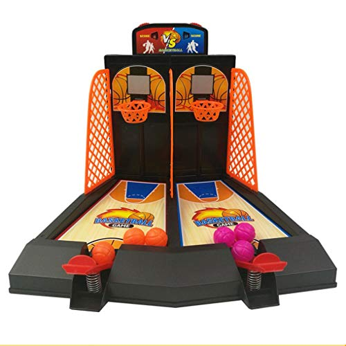 PRENKIN Escritorio Mini Baloncesto Dedo Shoot Cesta Niño Juegos de Mesa Juego de Dobles Interacción Modelo de Juguete de Regalo de la diversión de cumpleaños