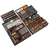 Smonex Wooden Organizer Compatible with Gloomhaven Board Game - Box Suitable for Storage All Gloomhaven Expansions - Gloomhaven Insert and Storage (Gray)