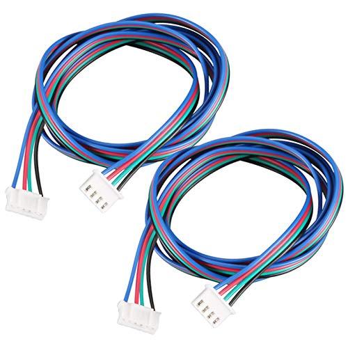 2 Stück 3D Drucker Schrittmotor Kabel 1m Schrittmotorkabel Schrittmotor Anschlusskabel Motor Schrittmotor Kabel XH2.54 4 Polig Bis 6 Polig Für 3D Druckermotor Schrittmotor Klemmenmotoren Mehrfarbig 1M