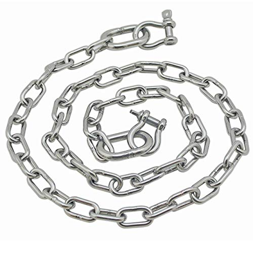 "Stainless Steel 316 Anchor Chain 3/16"" x 4' 3006.6575 with 1/4"" Shackles"