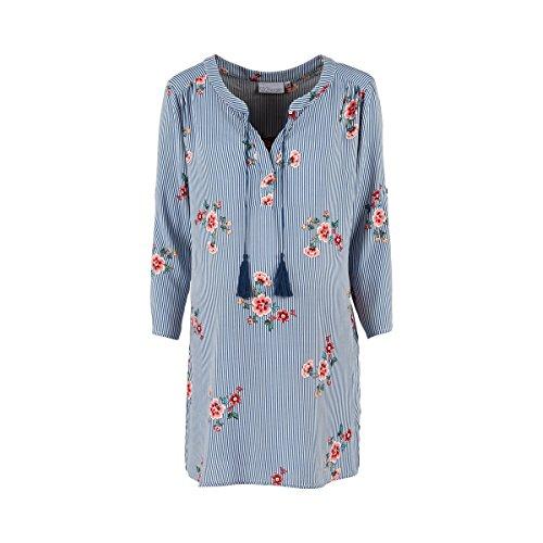 2HEARTS Umstands- und Still-Tunika Flowers - Basics Umstandsmode - Bluse mit Stillfunktion - Gemustert