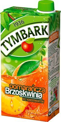 Tymbark Orangen-Pfirsich-Getränk///Pomarancza Brzoskwinia 1L
