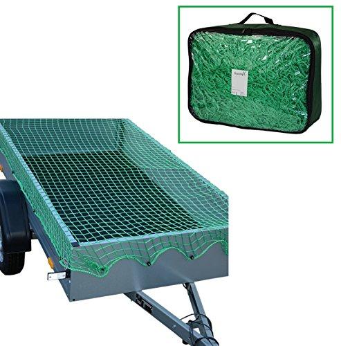 Systafex Praktisches Anhängernetz Gepäcknetz Transportnetz Abdecknetz Spannetz Sicherungssnetz Containernetz für PKW-Anhänger zur Ladungssicherung Dehnbar (1,50 x 2,70 m)