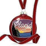 NEONBLOND Christmas Decoration Lake Retro Design Lake Placid Ornament