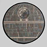 "Star Wars 39"" Diamteter Death Star Rug Gray"