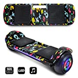 CHO POWER SPORTS 2019 Electric Hoverboard UL Certified Hover Board Electric Scooter with Built in Speaker Smart Self Balancing Wheels (Green)